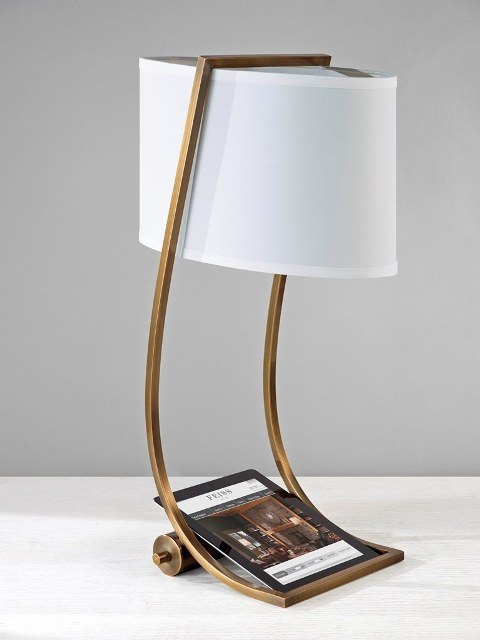 Elstead Lex Desk Lamp With USB Port Bronze